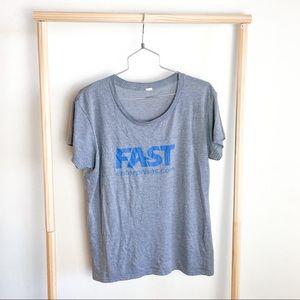 🌸 5/$10 Sale Fast Enterprises Gray T Shirt XL